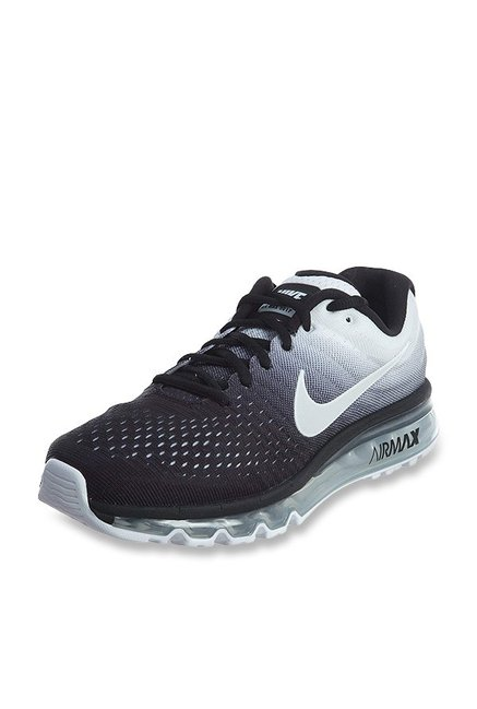best website 8ae7d d5da6 Buy Nike Air Max 2017 Black   White Running Shoes for Men at Best Price    Tata CLiQ