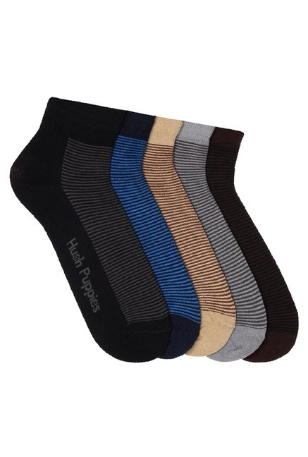 52ad2c2f9 Buy Hush Puppies Beige   Brown Ankle Length Socks (Pack Of 5) for ...