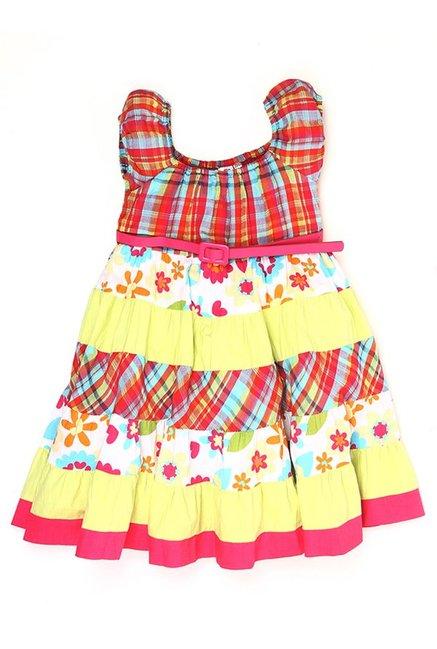 f3375f490c90b Buy K.C.O 89 Kids Multicolor Printed Dress for Girls Clothing Online @ Tata  CLiQ