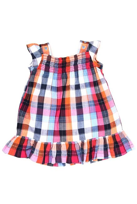 b8000154cb Buy K.C.O 89 Kids Multicolor Checks Dress for Infant Girls Clothing Online    Tata CLiQ