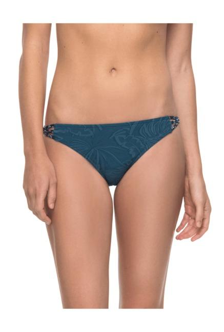 015908fad4f6 Buy Roxy Teal Printed Nylon Bikini Bottom for Women Online @ Tata ...