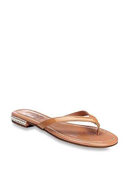 a9622aa5dc8a Buy Pavers England Nude Thong Sandals for Women at Best Price   Tata CLiQ