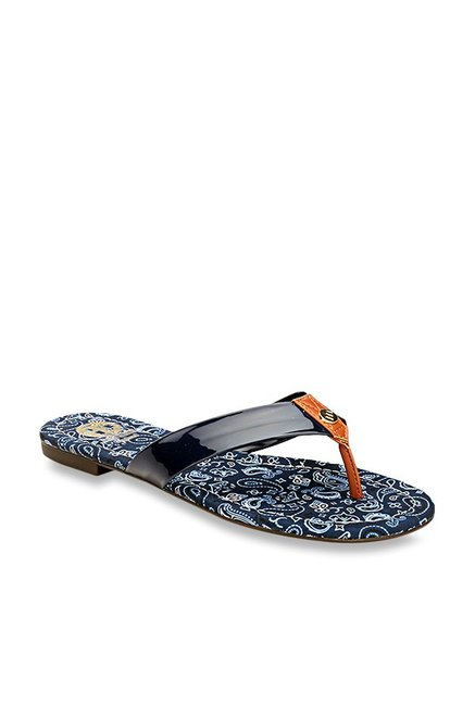 e025b36fd80 Buy Pavers England Navy Thong Sandals for Women at Best Price   Tata CLiQ