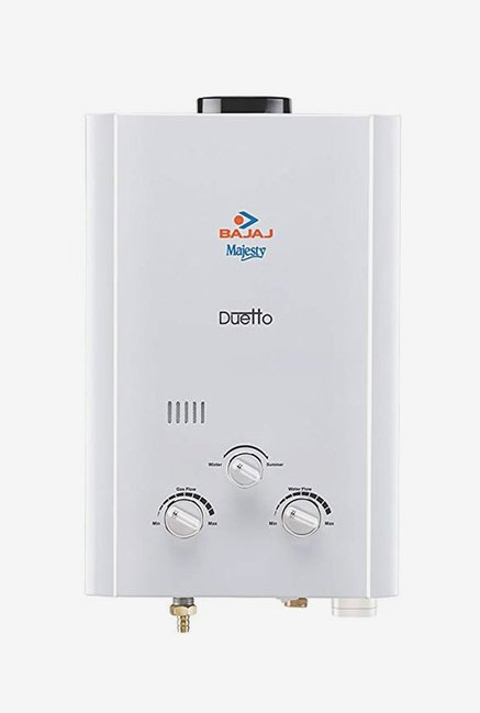 Bajaj Majesty Duetto 6L LPG Gas Water Heater (White)