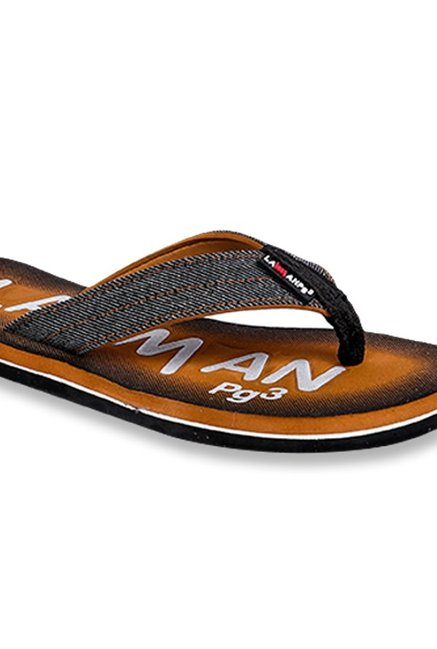 4482daa6f0c1 Buy Lawman Pg3 Black   Orange Flip Flops for Men at Best Price ...