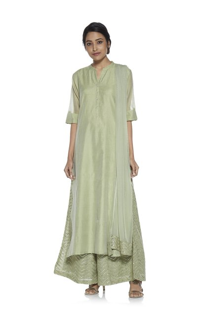 6fe7515c3d Buy Vark by Westside Green Ethnic Set for Women Online   Tata CLiQ