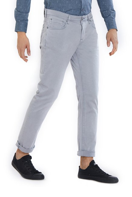 Integriti Charcoal Skinny Fit Cotton Jeans