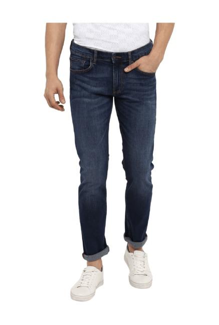 8955f3defc Buy Red Tape Mid Blue Slim Fit Jeans for Men Online   Tata CLiQ