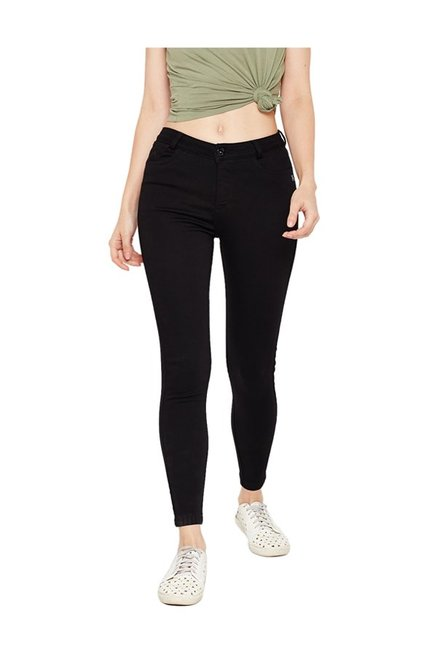 eb291b0431f Buy Xpose Black Skinny Fit High Rise Jeans for Women Online ...