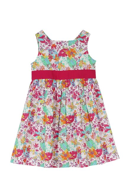 a33e58fda4fcb Buy My Little Lambs Kids Multicolor Printed Dress for Girls Clothing Online  @ Tata CLiQ