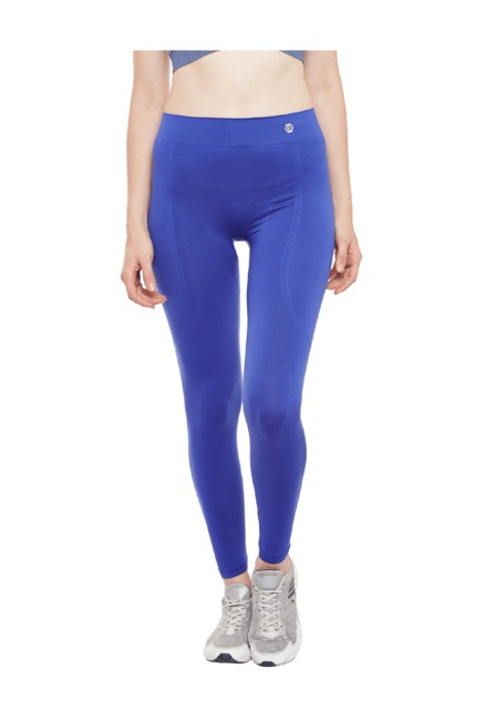 C9 Blue Textured Polyamide Leggings