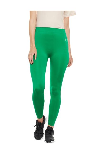 6d0818485ec6 Buy C9 Green Polyamide Leggings for Women Online   Tata CLiQ