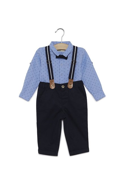 36e4b1416a3a Buy Baby HOP by Westside Blue George Shirt and Pants Set for Infant Boys  Clothing Online @ Tata CLiQ