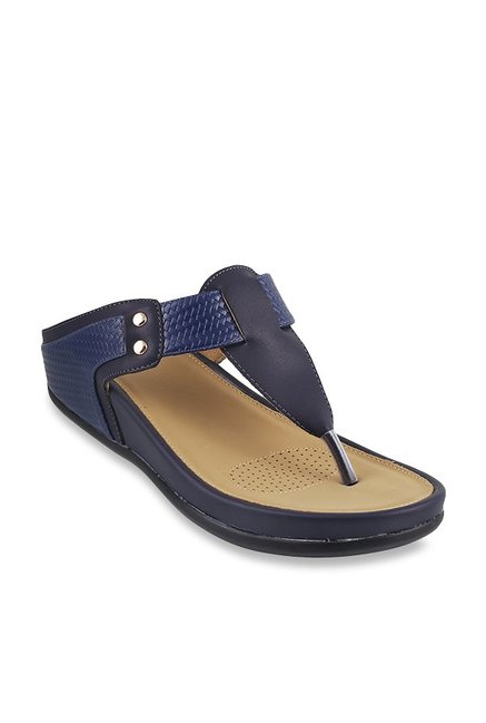 08980a3f2 Buy Mochi Navy Thong Wedges for Women at Best Price   Tata CLiQ