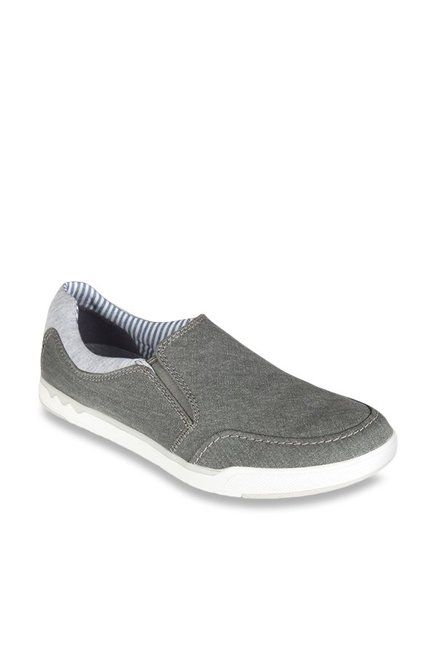 3347fd319c6bf Buy Clarks Step Isle Grey Slip-Ons for Men at Best Price   Tata CLiQ