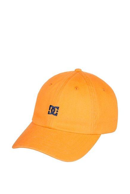 DC Uncle F Hdwr Ochre Yellow Embroidered Cotton Baseball Cap