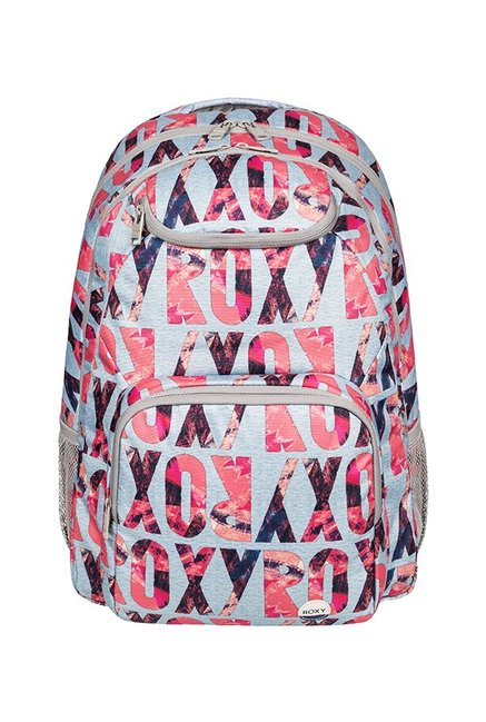 3dc005852d4 Buy Roxy Shadow Swell Grey & Pink Printed Laptop Backpack For Women ...