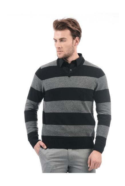 f010e1c84e98d Buy Flying Machine Black & Grey Full Sleeves Sweatshirt for Men Online @  Tata CLiQ