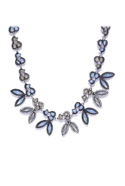 6f81e1b36263b4 Buy ToniQ Silver Classic Necklace Online At Best Price @ Tata CLiQ