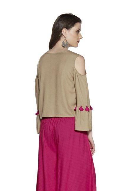 063c70c6e422ab Buy Zudio Beige Diva Ethnic Top for Women Online   Tata CLiQ
