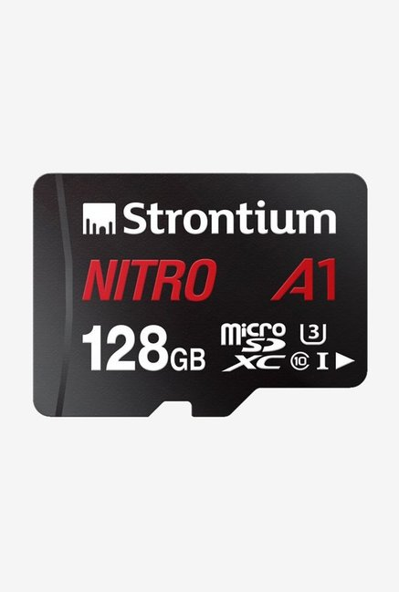 Strontium Nitro A1 A1 UHS I U1 128 GB Memory Card With Adapter  Black