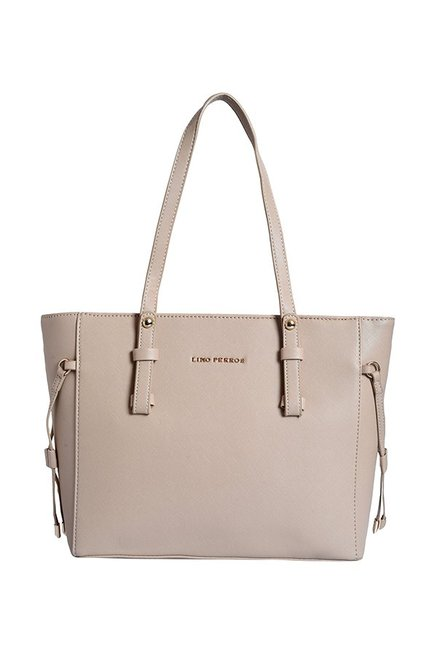 f973883054d Buy Lino Perros Beige Solid Shoulder Bag For Women At Best Price   Tata CLiQ
