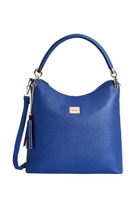 Lino Perros Royal Blue Tassel Hobo Shoulder Bag