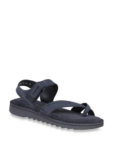 ef73d68441585 Buy Woodland Navy Cross Strap Sandals for Men at Best Price   Tata CLiQ