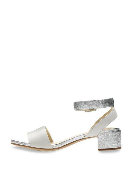 e909d3b8d5e9 Buy Clarks Orabella White   Silver Ankle Strap Sandals for Women at ...