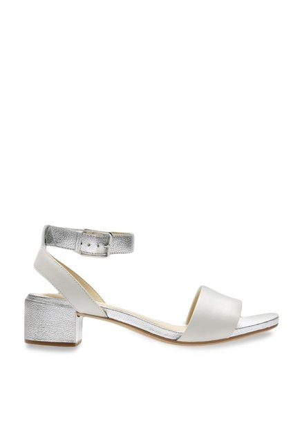 782023310ed Buy Clarks Orabella White   Silver Ankle Strap Sandals for Women at Best  Price   Tata CLiQ