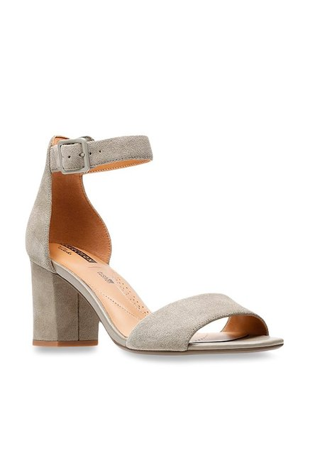 6d5054b6d Buy Clarks Deva Mae Grey Ankle Strap Sandals for Women at Best ...
