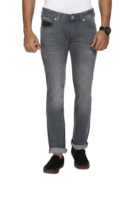4825b340 Buy Wrangler Grey Slim Fit Low Rise Jeans for Men's Online @ Tata ...