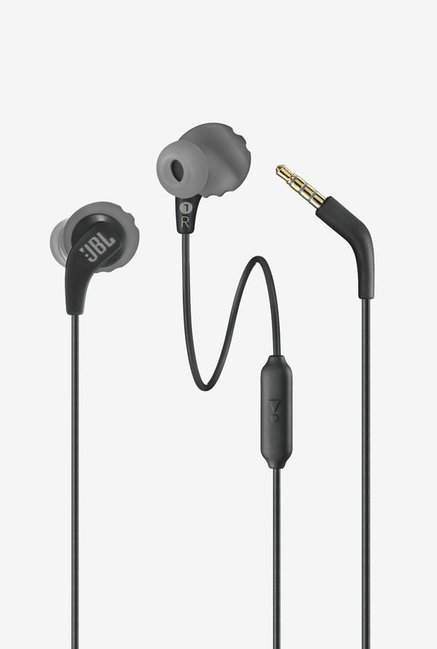 JBL Endurance *** Sweatproof Sports Earphones with One-Button Remote and Microphone (Black)