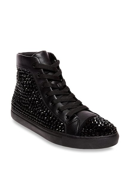 65c916b1db6 Buy Steve Madden Crescent Black Ankle High Sneakers for Men at Best Price    Tata CLiQ