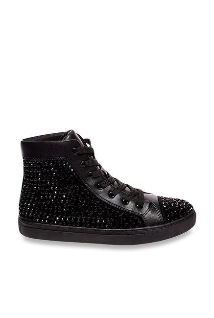 b6ceb812947 Buy Steve Madden Crescent Black Ankle High Sneakers for Men at Best ...