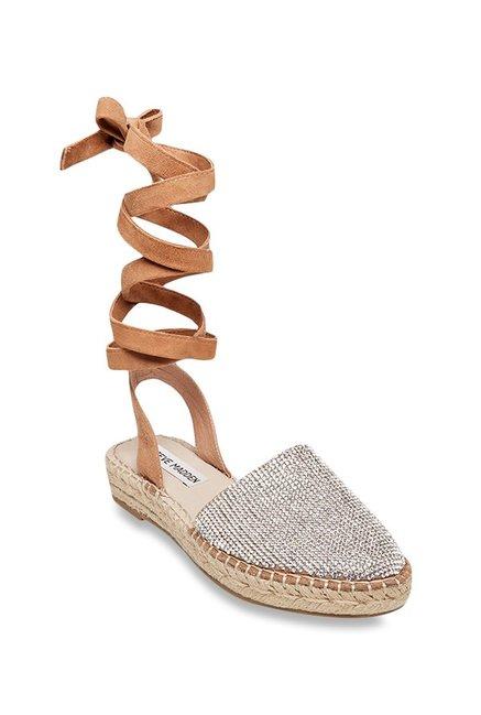 74f4e99e6ea7 Buy Steve Madden Mesa-r Silver Espadrille Sandals for Women at Best Price    Tata CLiQ