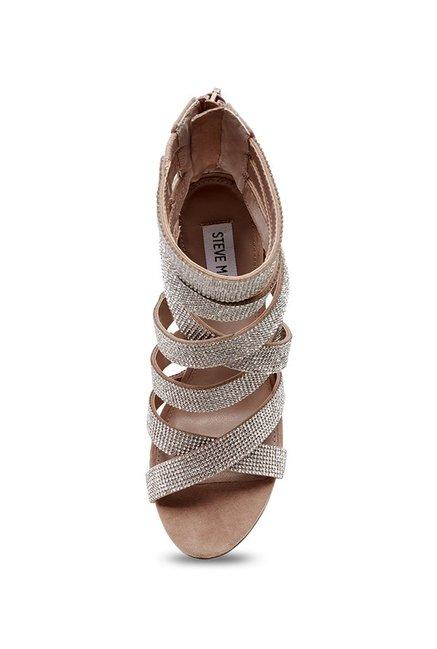 7191bcbd775d3d Buy Steve Madden Malika Silver Ankle Strap Stilettos for Women at ...