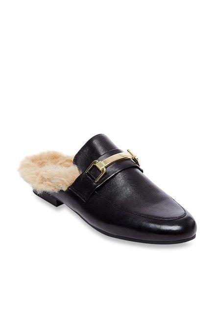 b6902aa5084 Buy Steve Madden Khloe Black Mule Shoes for Women at Best Price   Tata CLiQ