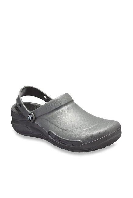 016856a403c Buy Crocs Bistro Slate Grey Back Strap Clogs for Men at Best Price @ Tata  CLiQ
