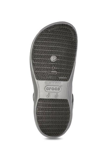 b250b64faa9 Buy Crocs Bistro Slate Grey Back Strap Clogs for Men at Best Price ...