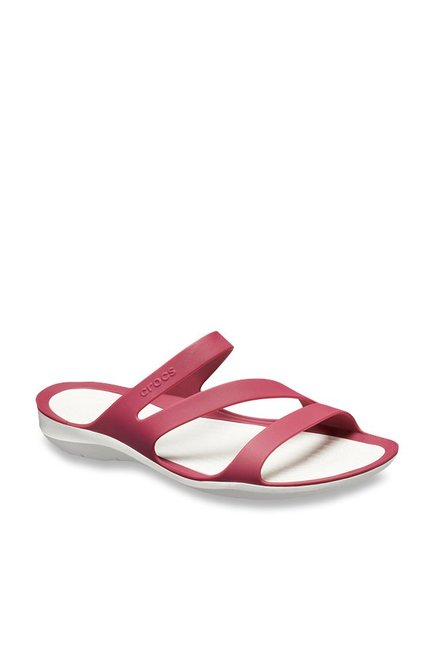 d94a708ac452b Buy Crocs Swiftwater Pomegranate Casual Sandals for Women at ...