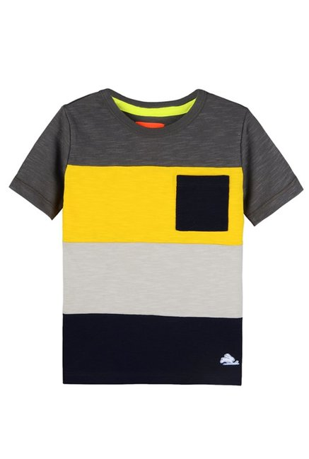 a0203609 Buy Cherry Crumble California Kids Multicolor Striped T-Shirt for ...