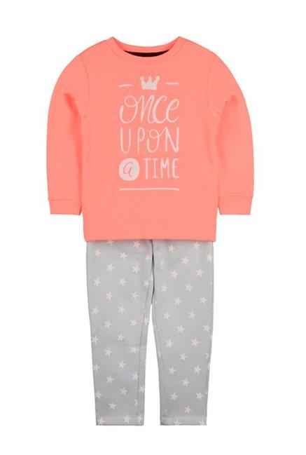 65ceda2d723 Buy Cherry Crumble California Kids Peach   Grey Nightsuit for Boys ...