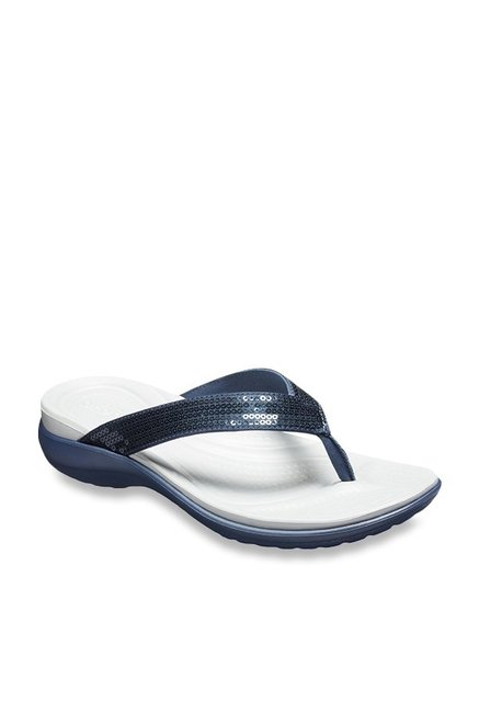 516fc75ef13a Buy Crocs Kadee II Graphic Navy Flip Flops for Women at Best Price ...