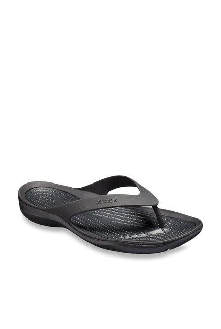 e4564b088085 Buy Crocs Kadee II Graphic Black Flip Flops for Women at Best Price ...