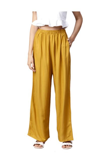 4fdbdaa8ef1 Buy Gerua Mustard Regular Fit Rayon Palazzo for Women Online ...