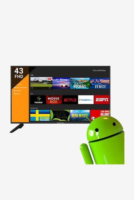 CloudWalker 43SF04X 109 cm  43 Inches  Smart Full HD LED Cloud TV  Android 7.0 Nougat