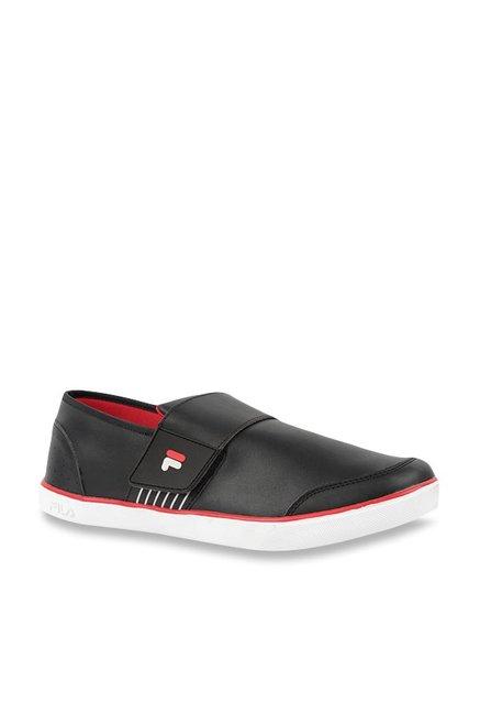 4b5b1969f031 Buy Fila Rock In II Black Slip-Ons for Men at Best Price   Tata CLiQ
