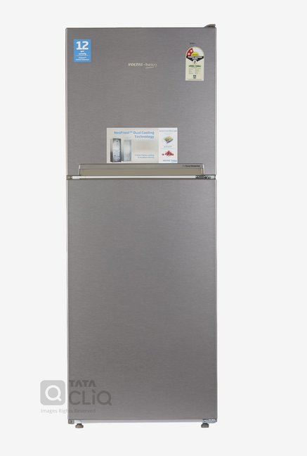 Voltas Beko RFF252I 230 L Inverter 2 Star Frost Free Double Door Refrigerator (Silver)