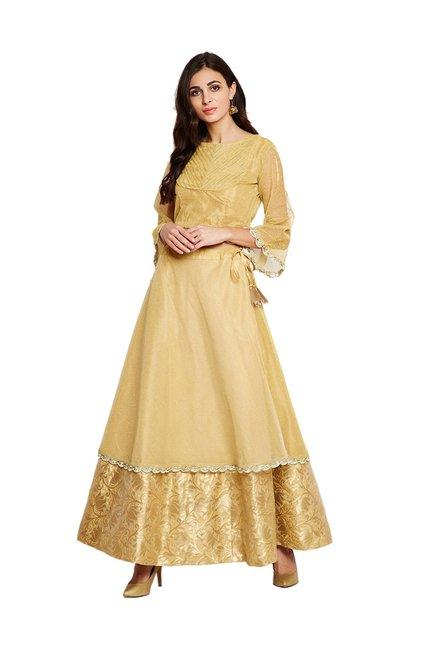 9333031dff6229 Buy Studio Rasa Gold Embellished Crop Top for Women Online   Tata CLiQ